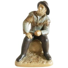 "Bing & Grøndahl Stoneware Figurine ""The Old Fisherman from Skagen"" #2370"