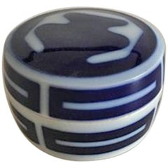 Bing & Grøndahl Lidded Dish in Porcelain by Lisa Enquis