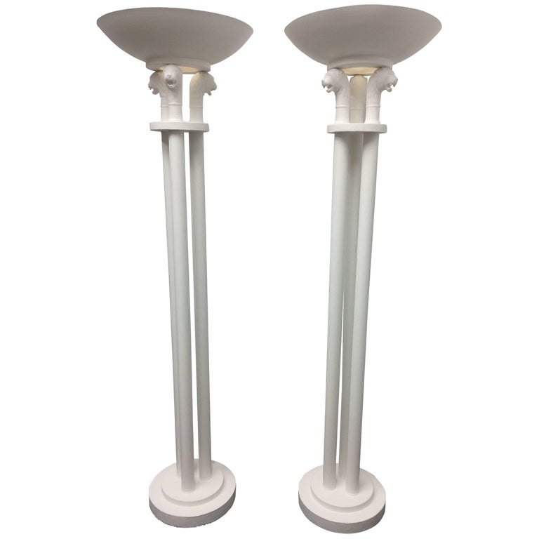 Tall Pair of Torchieres in the Neoclassical Style