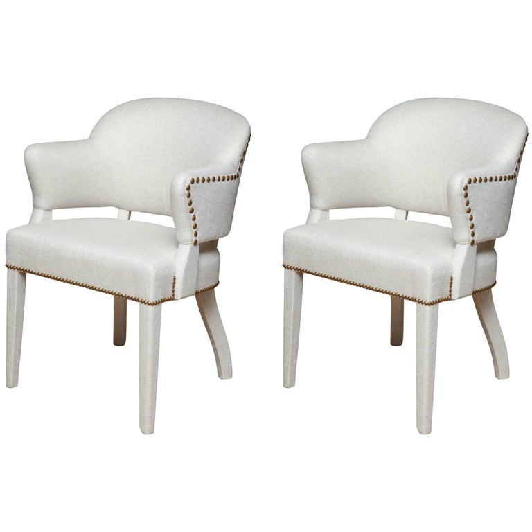 Pair of Deco Armchairs For Sale