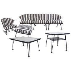 Russell Woodard Patio Set with Sofa, Chair and Tables