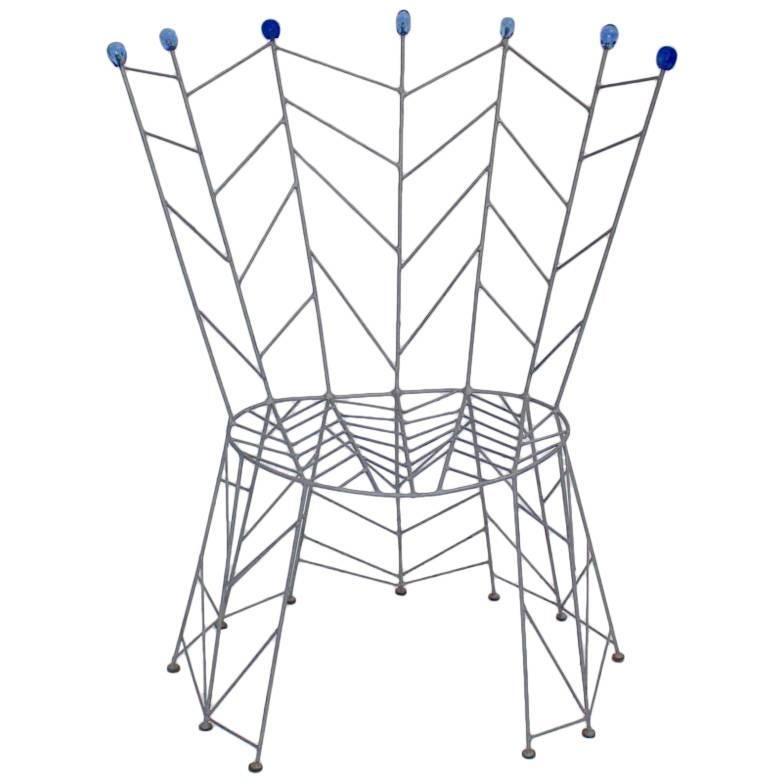 Modernist Metal Vintage Side Chair by Bohuslav Horak, 1988 Czech Republic