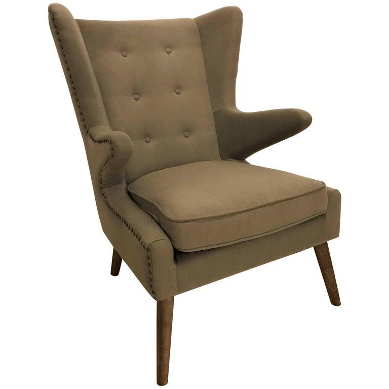 Mid-Century Modern Style Papa Bear Style Armchair