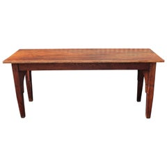 19th Century Harvest Table in Old Surface