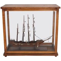 Ship Model in Glass Case