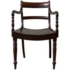 Regency Style Mahogany Armchair