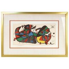 Joan Miro Lithograph Titled 'Miró Escultor, Italy'