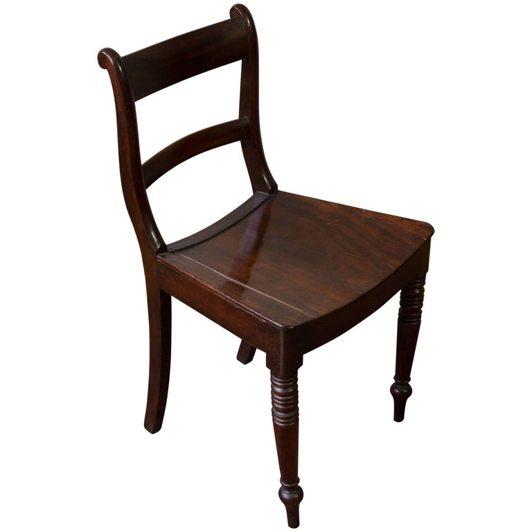 Mahogany Side Chair with Turned Legs