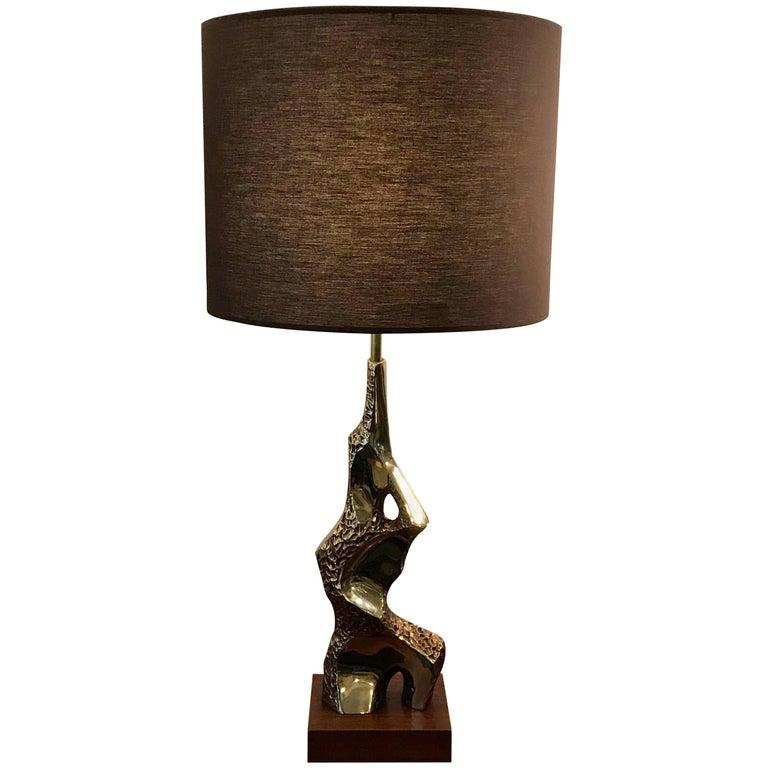 Midcentury Sculptural Brutalist Table Lamp by Laurel