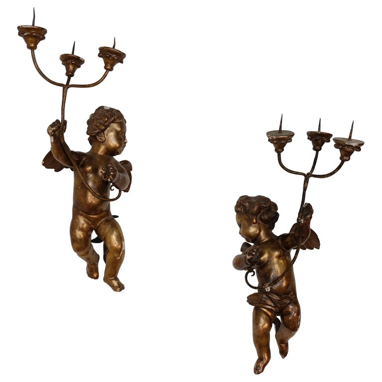 Mid-1700s Italian Gold Gilded Angels