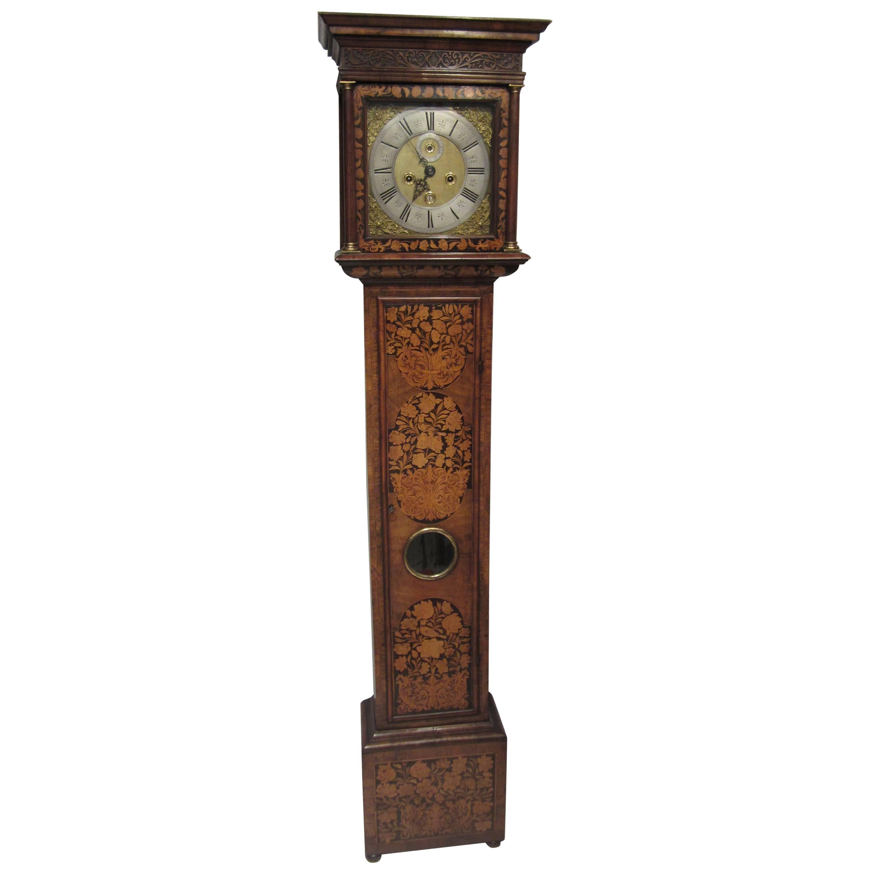 17th Century Walnut and Marquetry Longcase Clock