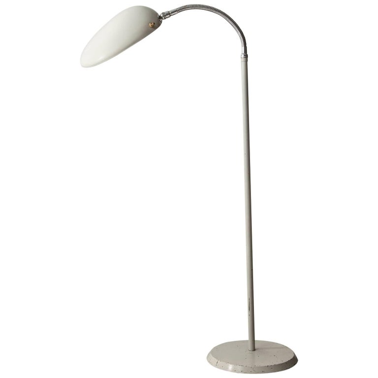 "Floor Lamp with ""Cobra"" Shade"