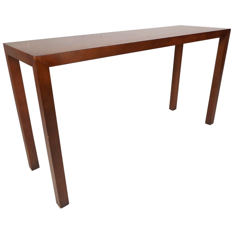Mid Century Modern Parsons Style Console Table For Sale At 1stdibs