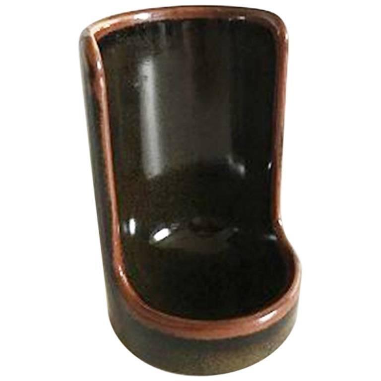 Bing & Grondahl Stoneware Candleholder For Sale