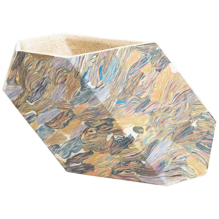 "Cody Hoyt ""Low Oblique"" Ceramic Vessel For Sale"