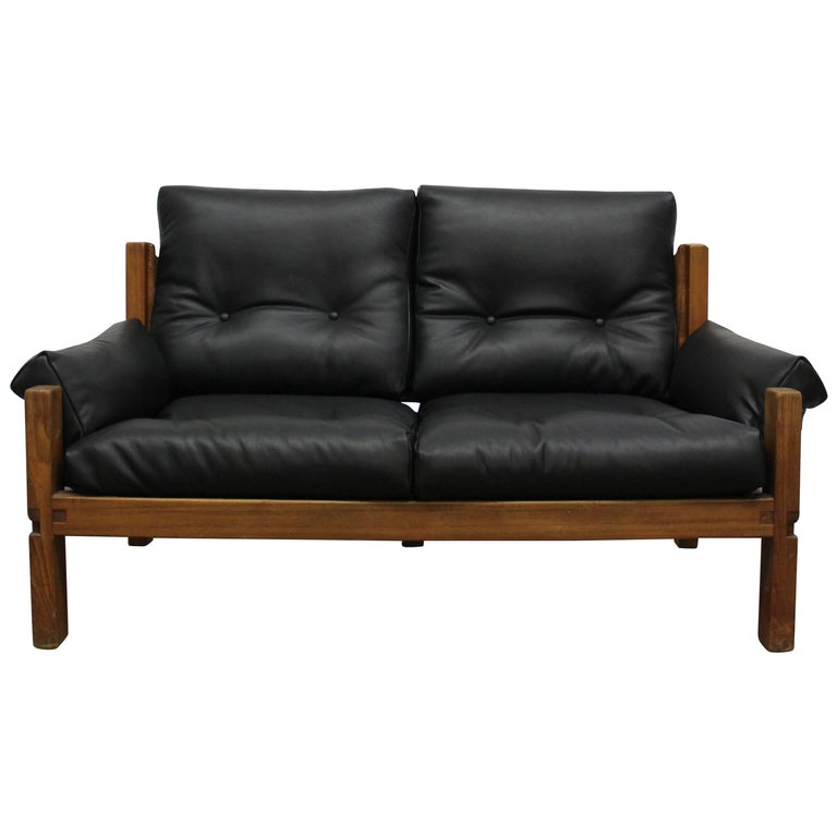 Pierre Chapo Loveseat in Solid Elm, France, 1960s For Sale