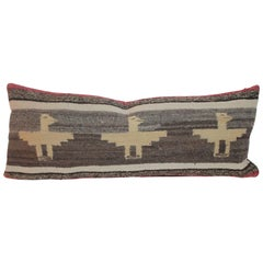 Navajo Indian Weaving Thunderbirds Bolster Pillow