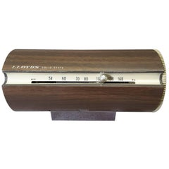 Mid-Century Modern 1967 Wood Grain Finish Tubular Solid State Am Radio