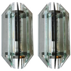 Pair of Veca Glass Sconces