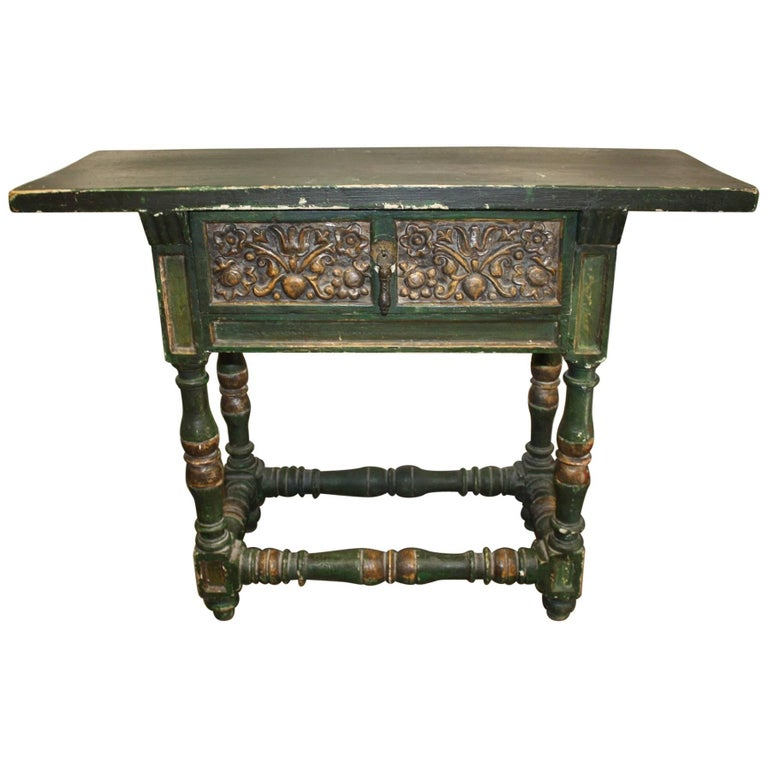 Charming Painted Side Table