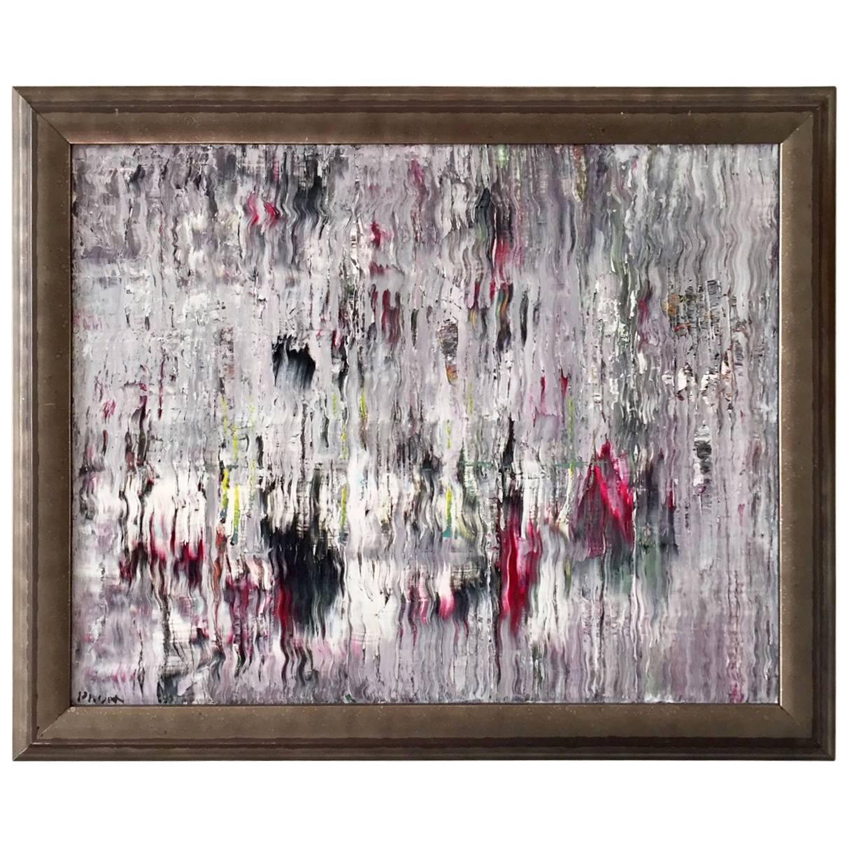 Caravan Acrylic on Canvas Abstract Painting Framed Andrew Plum