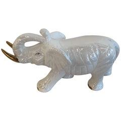 Vintage Ceramic Elephant Statue Hollywood Regency
