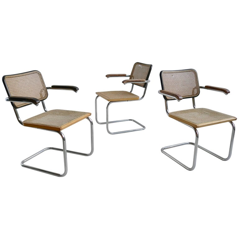 Marcel Breuer S64 Chairs by Thonet Early Editions For Sale