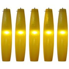 Five Lights by Alessandro Pianon for Vistosi, Murano, 1960