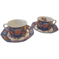 Hermès Porcelain Marqueterie De Pierre D'orient Et D'occident Breakfast Cups