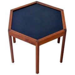 Hexagonal Side Table with Black Top by Hans Andersen for Artek Denmark