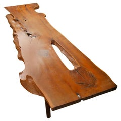 Tree Trunk Coffee Table by Reynolds of Ludlow in the Style of George Nakashima