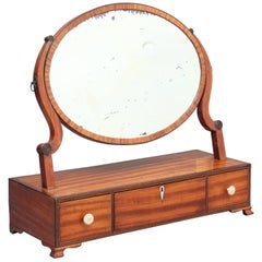 19th Century Satinwood Toilet Mirror