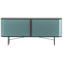 """Perf"" Sideboard in Varnished Steel & Oak Veneered Plywood by Moroso for Diesel"