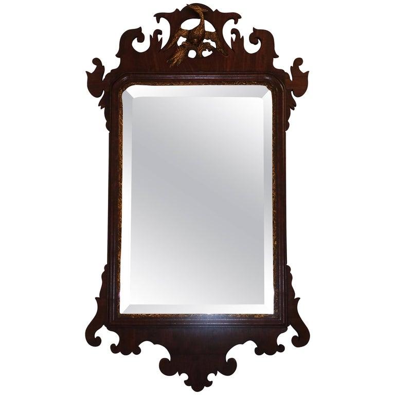 Georgian Mahogany Framed Mirror English