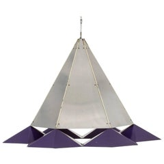 Metal Pendant Lamp in the Style of Simon Henningsen
