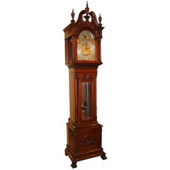 Exceptional Smith Patterson & Co Boston Mahogany Tall Clock with Moon Phase Dial