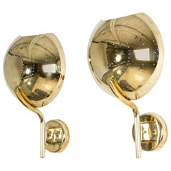 Pair of Finnish Brass Wall Sconces