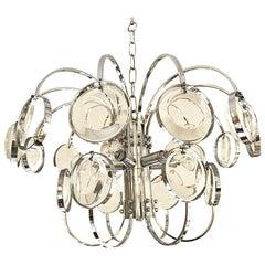 Gaetano Sciolari mid-century chandelier glass Design by Palwa, 1970s