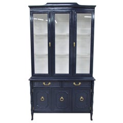 Broyhill Lenoir House Faux Bamboo Chest and Hutch