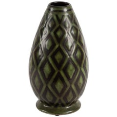 Charles Catteau for Boch Frères Keramis, Ovoid Vase, Belgium, C. 1929