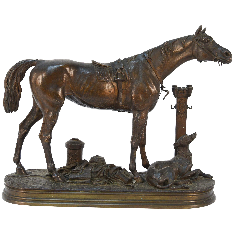Jules Moigniez Horse Sculpture
