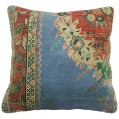 Blue Vintage Medallion Turkish Rug Pillow