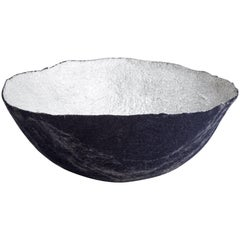 Sculptural Bowl in Metallic Felt
