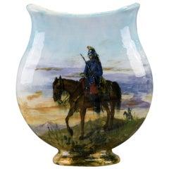 Sevres Orientalist Painted Ceramic Vase