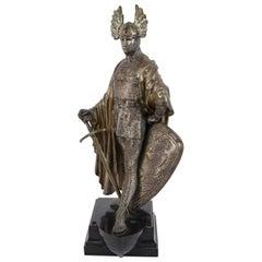 19th Century Bronze Viking Sculpture