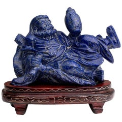 Carved Lapis Lazuli Figure, China, 20th Century