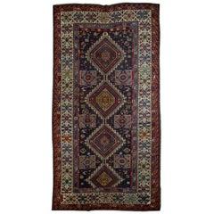 Handmade Antique Caucasian Shirvan Rug, 1880s