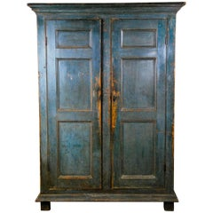 1830, Pine Canadian French Armoire in Original Paint