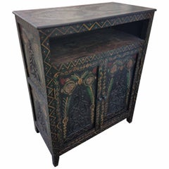 Moroccan Carved Cabinet, Plenty of Storage