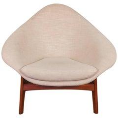 Rare Adrian Pearsall Three-Legged Coconut Chair